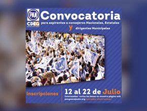 Abren convocatoria para Consejeros y Dirigentes de comités municipales del PAN