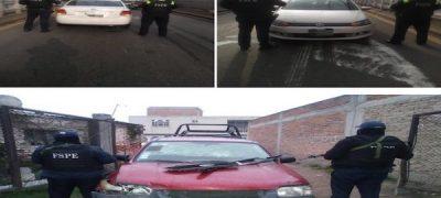 Aseguran dos vehículos robados en Cortazar y Celaya